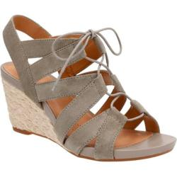Women's Clarks Acina Chester Strappy Wedge Sage Goat Suede