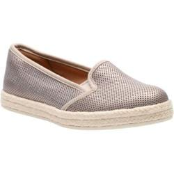 Women's Clarks Azella Theoni Espadrille Gold Metallic Goat Full Grain Leather