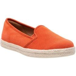 Women's Clarks Azella Theoni Espadrille Orange Cow Suede