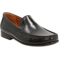 Men's Clarks Claude Plain Loafer Black Cow Full Grain Leather