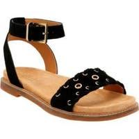 Women's Clarks Corsio Amelia Ankle Strap Sandal Black Cow Suede