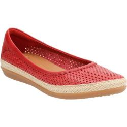 Women's Clarks Danelly Adira Slip-On Red Cow Full Grain Leather
