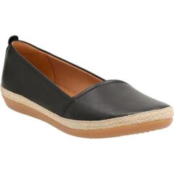 Women's Clarks Danelly Alanza Slip-On Black Cow Full Grain Leather