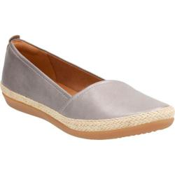 Women's Clarks Danelly Alanza Slip-On Silver Cow Full Grain Leather