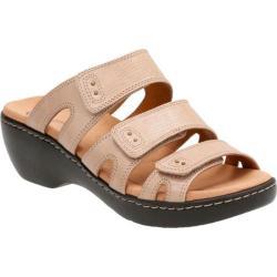 Women's Clarks Delana Damir Strappy Sandal Sand Leather Combination