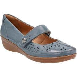 Women's Clarks Everlay Bai Mary Jane Blue Cow Full Grain Leather