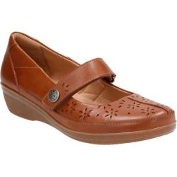 Women's Clarks Everlay Bai Mary Jane Dark Tan Cow Full Grain Leather