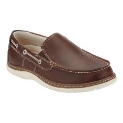 Men's Dockers Oakdale Boat Shoe Red Brown Leather