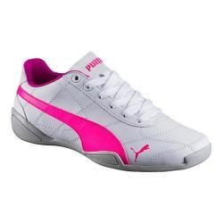Girls' PUMA Tune Cat 3 Jr Sneaker PUMA White/Knockout Pink
