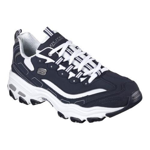 men 39 s skechers d 39 lites sneaker navy white free shipping today overstock 20963422. Black Bedroom Furniture Sets. Home Design Ideas
