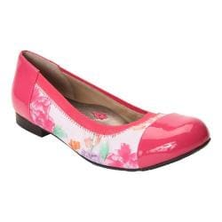 Women's Ros Hommerson Rebecca Cap Toe Flat Pink Floral Leather