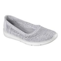 Women's Skechers BOBS Pureflex 2 Knit Knack Flat Gray/White