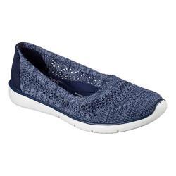 Women's Skechers BOBS Pureflex 2 Knit Knack Flat Navy/Blue