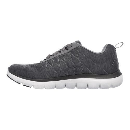 busto borgoña Familiarizarse  Shop Men's Skechers Flex Advantage 2.0 Chillston Trainer Charcoal -  Overstock - 14392144