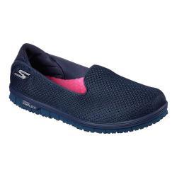 Women's Skechers GO MINI FLEX Walk Slip-On Walking Shoe Navy