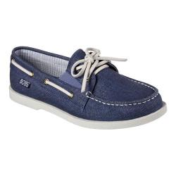 Women's Skechers BOBS Chill Luxe Anchor Up Boat Shoe Navy