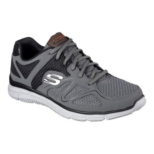 Men's Skechers Satisfaction Flash Point Trainer Charcoal/Orange
