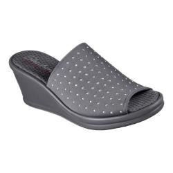 Women's Skechers Rumblers Wedge Slide Charcoal