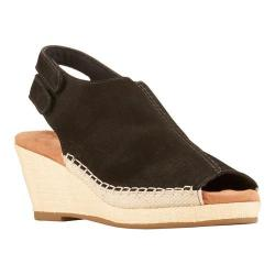 Women's Walking Cradles Anikka Wedge Slingback Black Nubuck