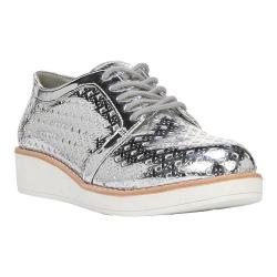 Women's Fergalicious Everly Woven Oxford Silver Synthetic Leather