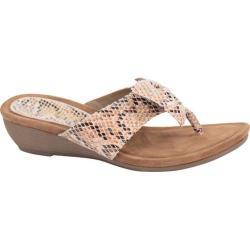 Women's J. Renee Ayala Thong Sandal Natural Multi Snake Print Leather