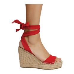 Women's Kenneth Cole New York Odile Espadrille Wedge Red Suede (More options available)