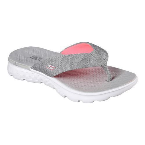 8ff00567f8a7 Shop Women s Skechers On the GO 400 Vivacity Flip-Flop Gray Pink ...