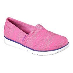 Girls' Skechers Pureflex Shimmer Stripes Alpargata Hot Pink/Purple