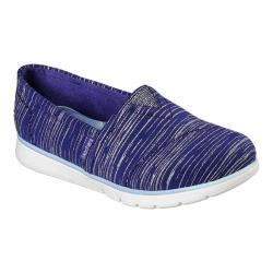 Girls' Skechers Pureflex Shimmer Stripes Alpargata Navy/Light Blue