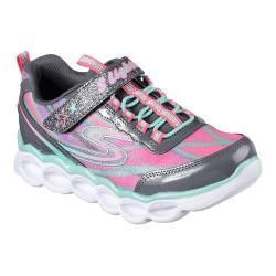Girls' Skechers S Lights Lumos Sneaker Charcoal/Multi