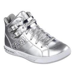 Girls' Skechers Sassy Kicks High Top Silver