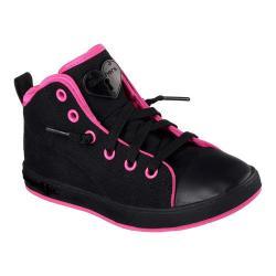 Girls' Skechers Shoutouts Canvas Craze Slip-On High Top Black/Hot Pink