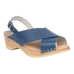 Women's Troentorp Bastad Clogs Anita Slingback Clog Sandal Persian Blue Leather