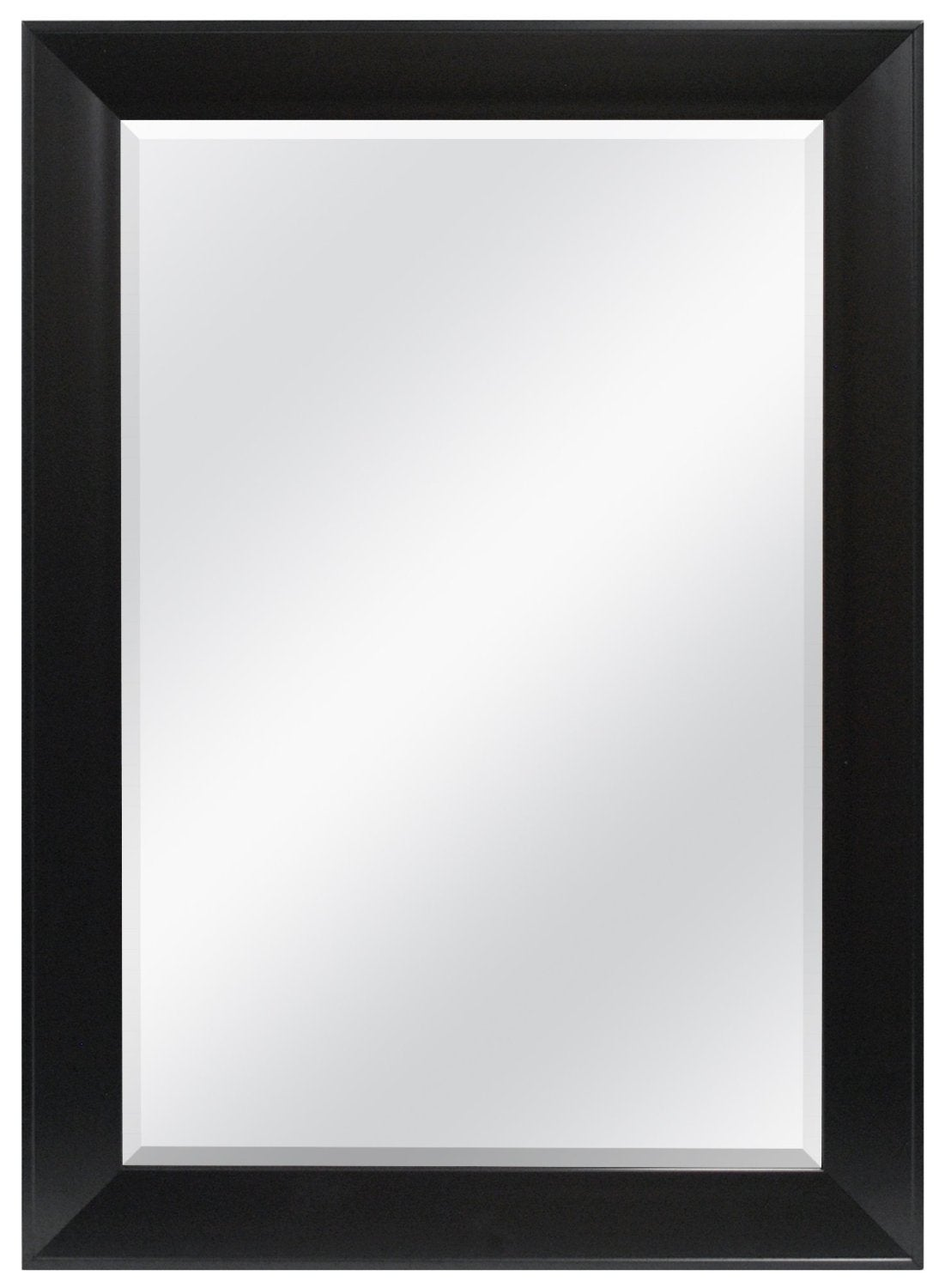 belvedere 32 x 24 inch black wall mirror