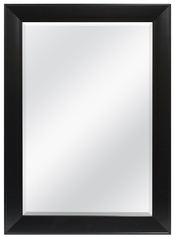 Belvedere 32 x 24 inch Black Wall Mirror