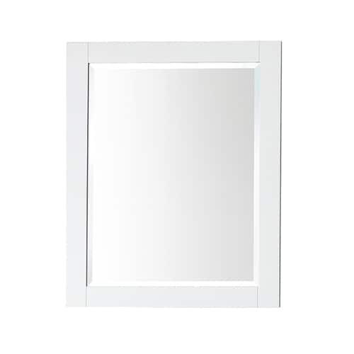 Belvedere 32 x 28 inch White Wall Mirror