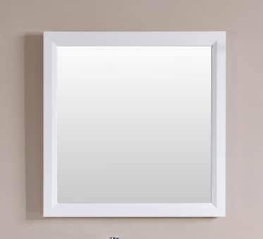 Belvedere 30 x 30 inch White Wall Mirror