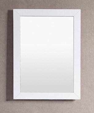 Belvedere 24 x 32 inch White Wall Mirror