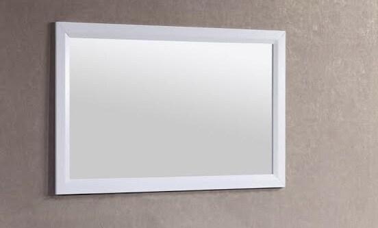 Belvedere 48 x 28 inch White Wall Mirror