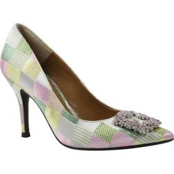 Women's J. Renee Bilboa Pointed Toe Pump Pastel Multi Rose Harlequin Glitter Fabric