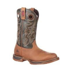 Men's Rocky 14in Long Range Waterproof Western Boot Brown/Dark Brown Full Grain Leather