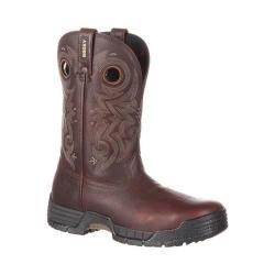 Men's Rocky 14in MobiLite Waterproof Western Work Boot Brown Full Grain Leather