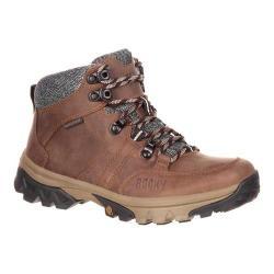Women's Rocky 5in Endeavor Point Waterproof Outdoor Boot Brown Full Grain Leather
