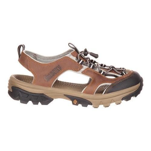 Women's Rocky Endeavor Point Hiking Sandal Brown Full Grain Leather - Thumbnail 1