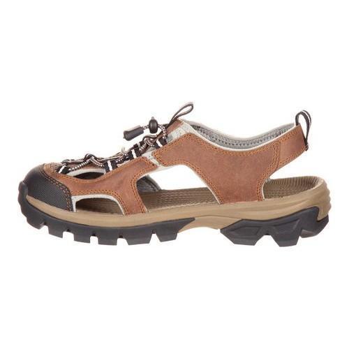 Women's Rocky Endeavor Point Hiking Sandal Brown Full Grain Leather - Thumbnail 2