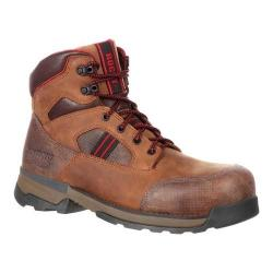 Men's Rocky 6in Mobilwelt Waterproof Work Boot Brown Leather