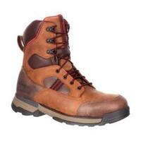Men's Rocky 8in Mobilwelt Composite Toe Waterproof Work Boot Brown Leather