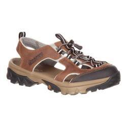 Women's Rocky Endeavor Point Hiking Sandal Brown Full Grain Leather