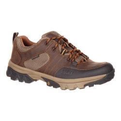 Men's Rocky Endeavor Point Waterproof Outdoor Oxford Brown Leather/Mesh