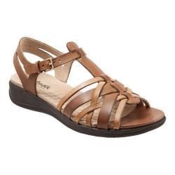 Women's SoftWalk Taft T Strap Sandal Natural/Tan Soft Leather